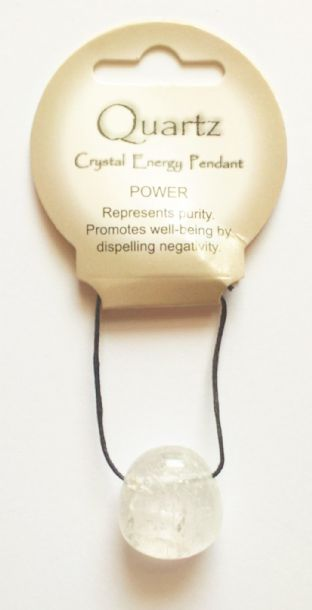 Crystal Energy - Quartz - Power - Tumble Stone Pendant